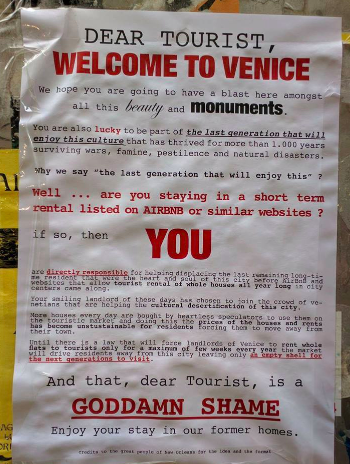 Venice tourist poster