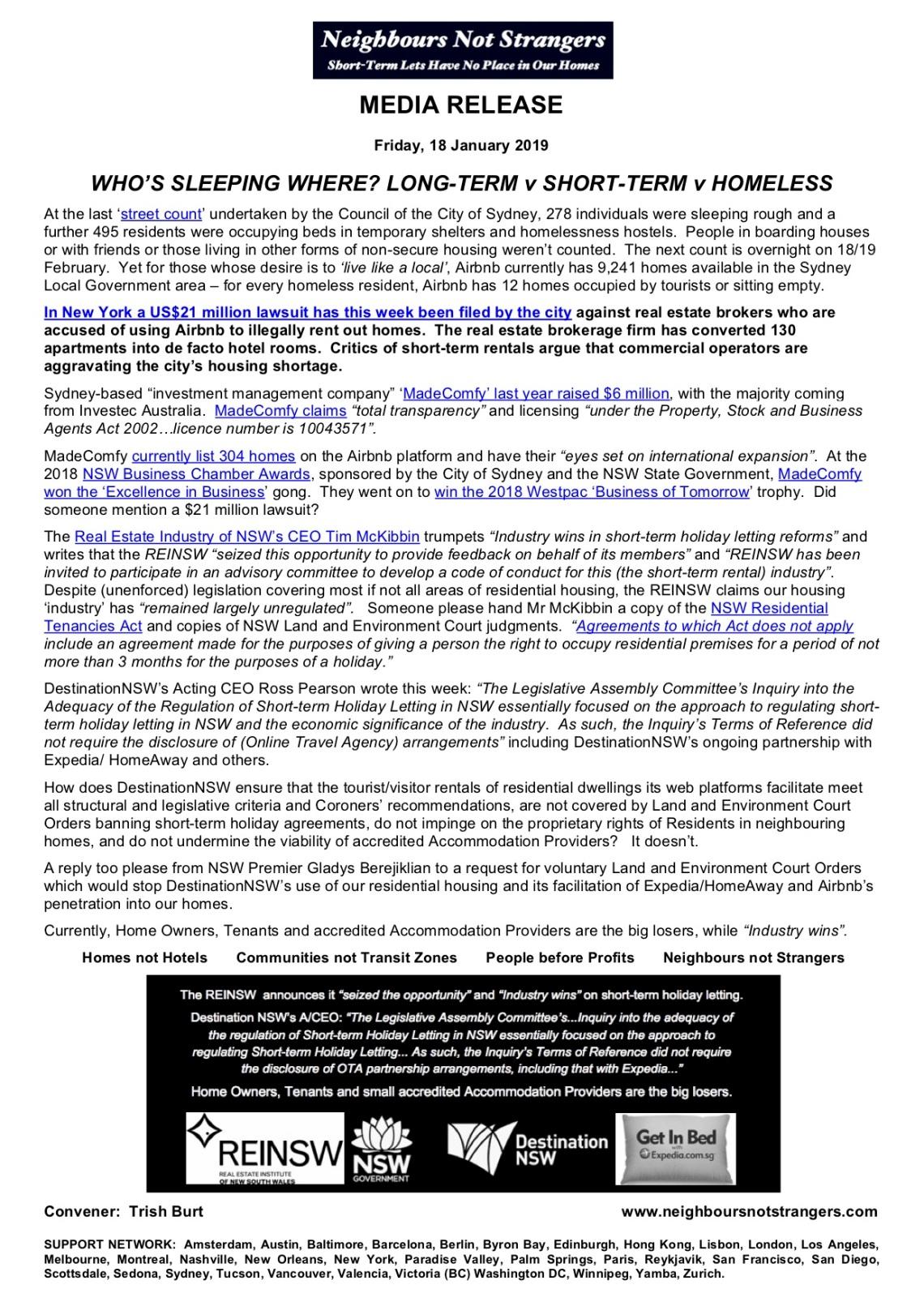 media release - 19-01-18